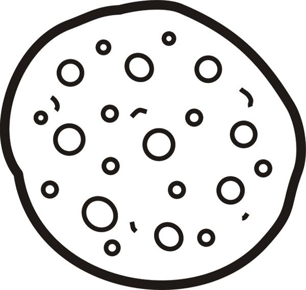 cookie pizza coloring page