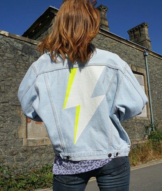 starman - reworked vintage denim jacket
