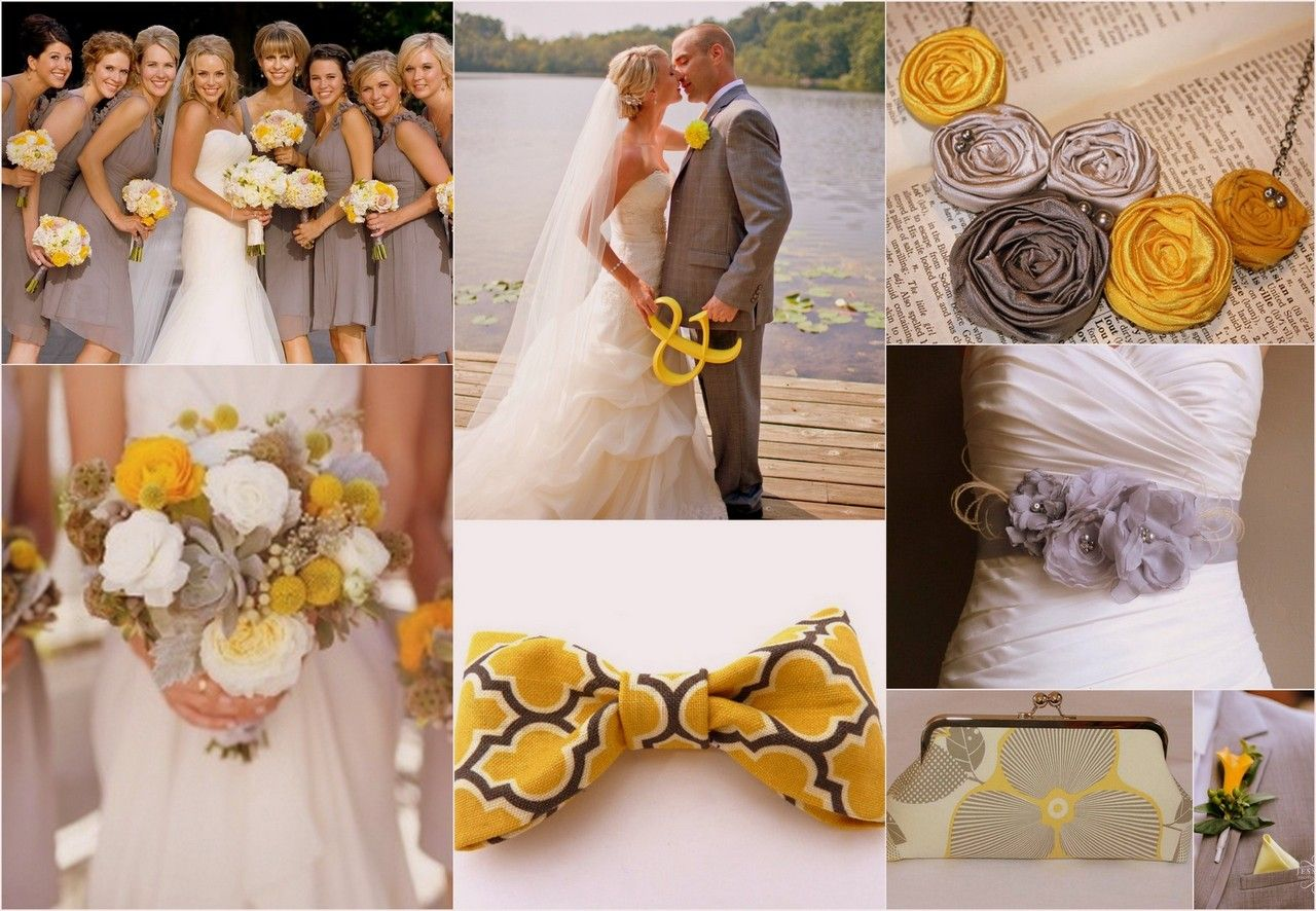 Yellow And Grey Wedding Color Scheme Love With Maybe A Little