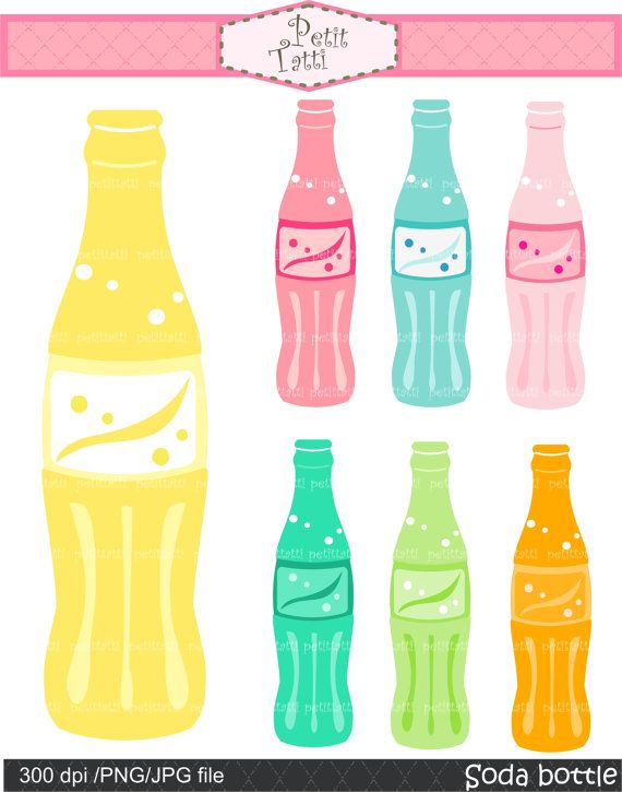 Party Clip Art Digital Clip Art For All Use Soda By Petittatti 3 50 Clip Art Digital Clip Art Art Party