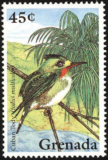Cuban Tody stamps - mainly images - gallery format