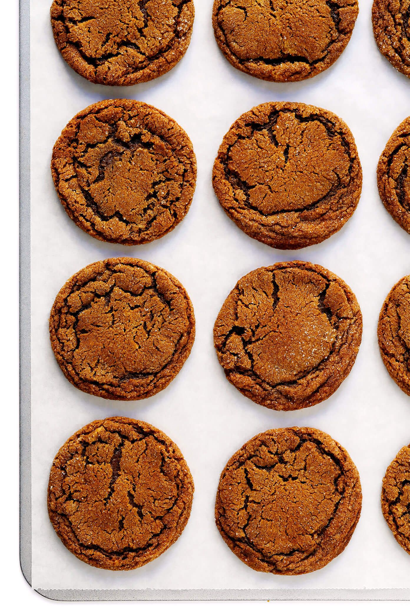 LOVE these Ginger Molasses Cookies They are perfectly soft and chewy spiced with lots of ginger cinnamon and cloves easy to make and irresistibly delicious  Gimme Some Ov...