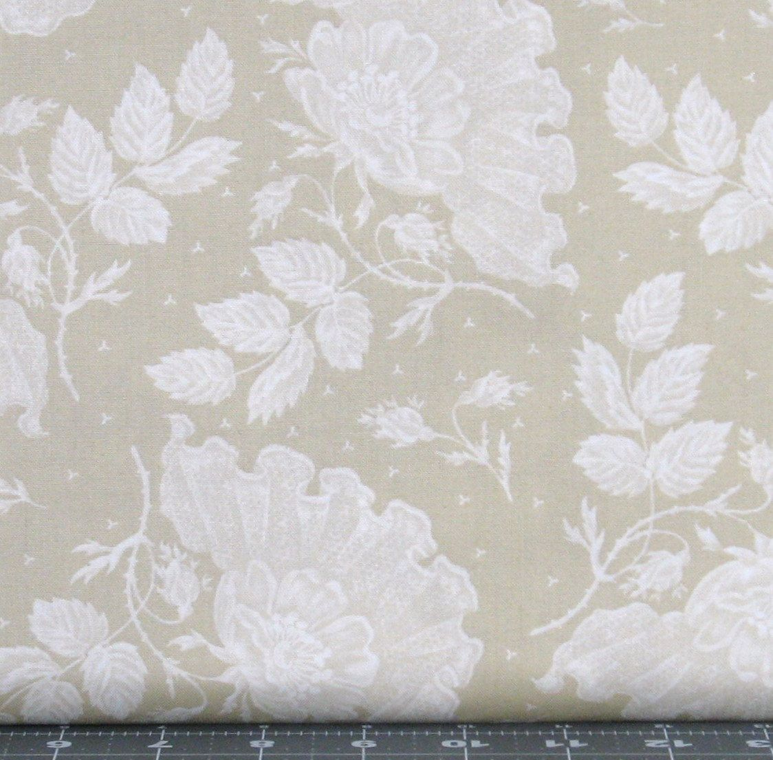Ivory and White Tone on Tone Lace Design Cotton Quilt Fabric for ... : white tone on tone quilt fabric - Adamdwight.com