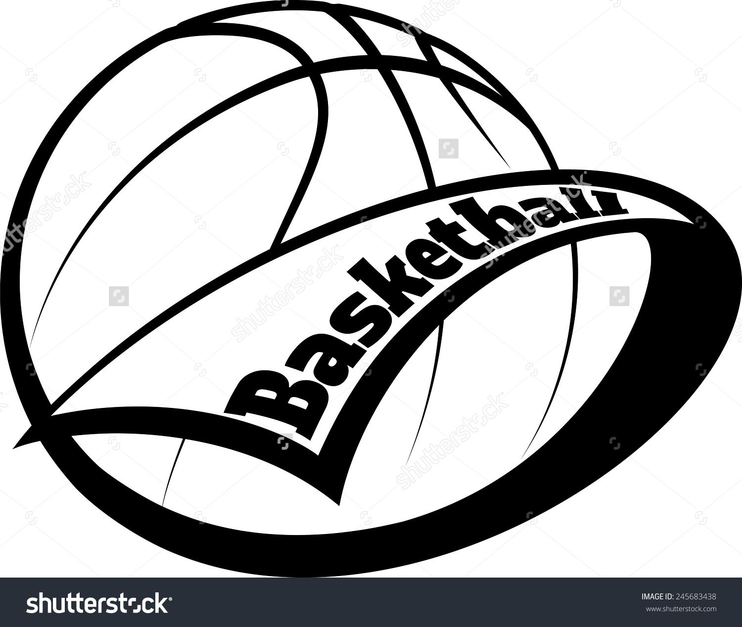 Stylized basketball with a pennant swooping around it and the word stylized basketball with a pennant swooping around it and the word basketball inside the pennant biocorpaavc Choice Image
