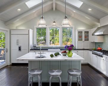 White Kitchen Vaulted Ceiling kitchen with vaulted ceiling ideas | 45,428 vaulted ceiling