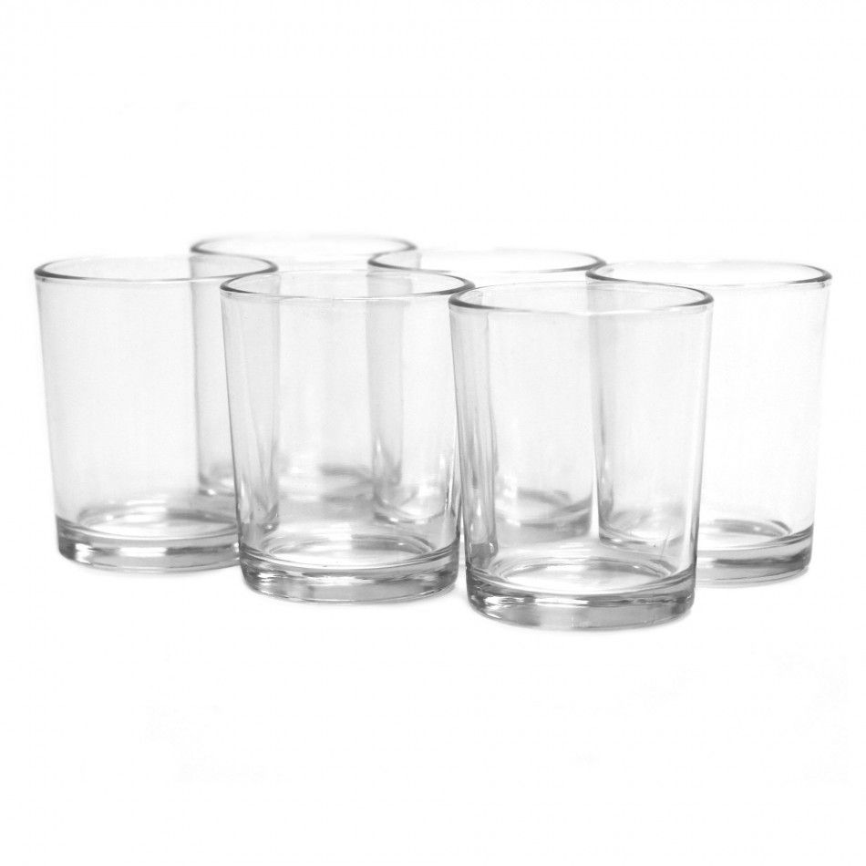 Clear Glass Votive Candle Holder Pack Wholesale