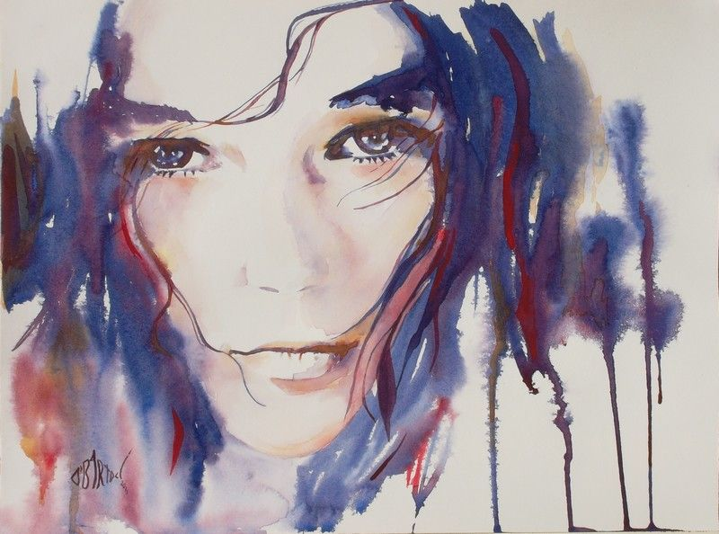 Accueil Portraits Aquarelle Portrait Peinture Et Visage A L