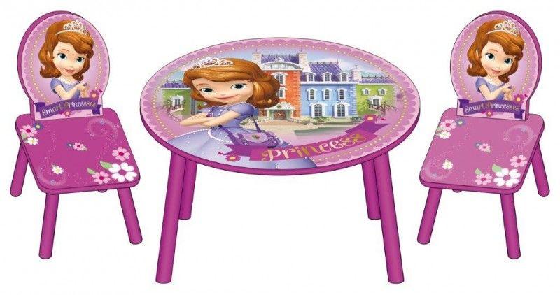 Tavolino Disney Legno.Sofia La Principessa Disney Tavolino In Legno E Sedie