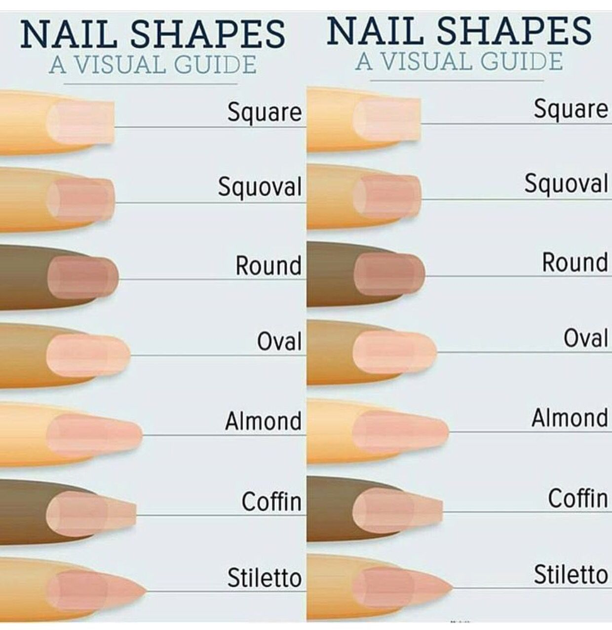 Nail Shapes With Images Fake Nails Shape Types Of Nails