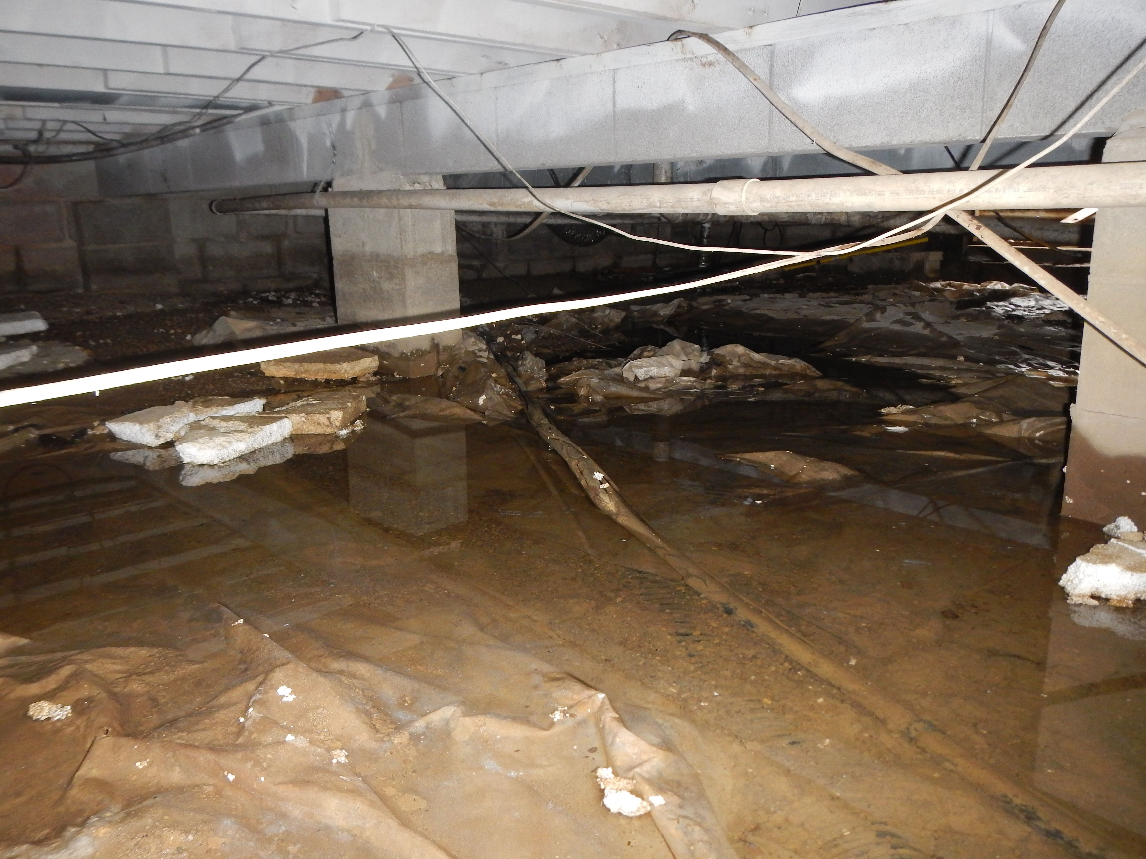 Crawl Space Drainage In Indianapolis In 2020 Crawlspace Groundwater Drainage