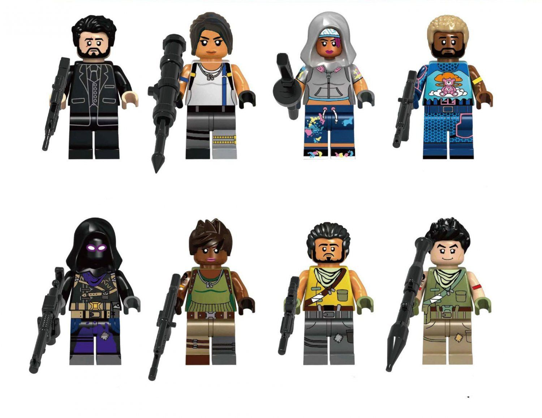 New Custom Fit Lego Fortnite Battle Royale Minifigures Sky Fox Explorer Raven Battle royale game mode by epic games. custom fit lego fortnite battle royale