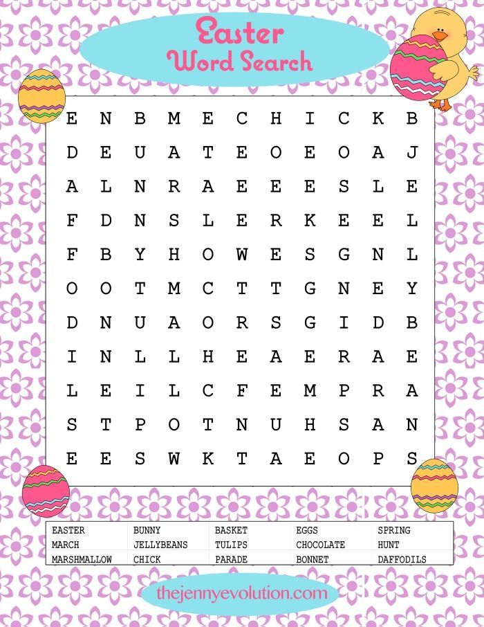 Challenger image within easter word search printable