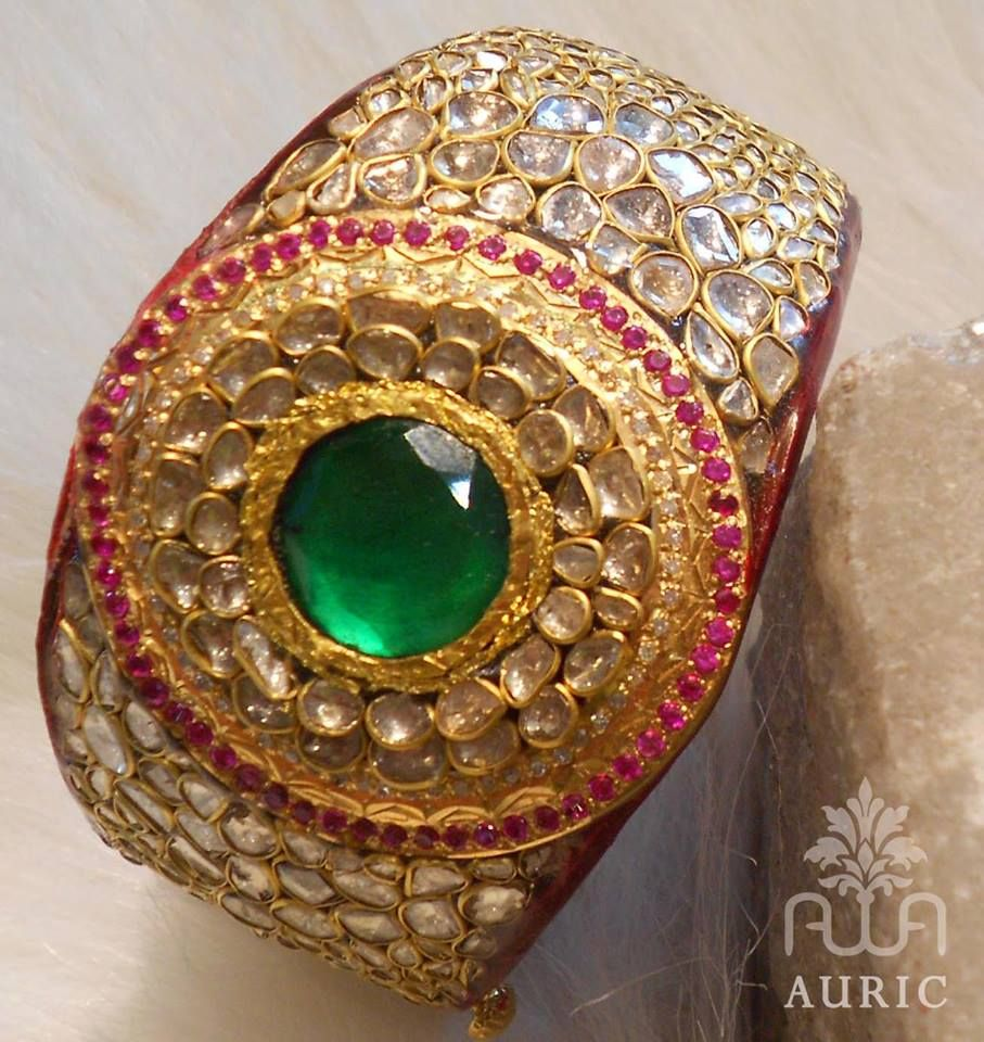 Stunning Kada Pachi Work - See more stunning jewelry at StellarPieces.com!
