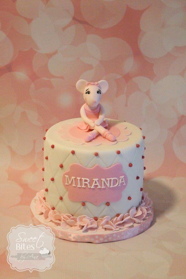 Angelina Ballerina Birthday Cake The Ballet Slippers Are Chocolate