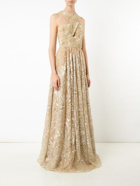 Marchesa Notte Floral Bead Embellished Gown in 2018 | Marchesa ...