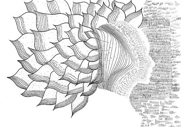 Préférence Dessins d'élèves - Initiation au dessin cerveau droit - Galerie 8  MP52