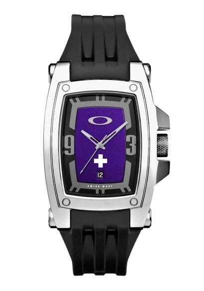 2e4d72355c INFINITE HERO WARRANT™ WATCH: Polished/Purple Dial/Black Rubber Strap  #Oakley #watch #purple