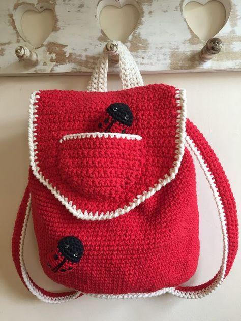 Crochet Club Little Backpack Pinterest Crocheted Bags Free