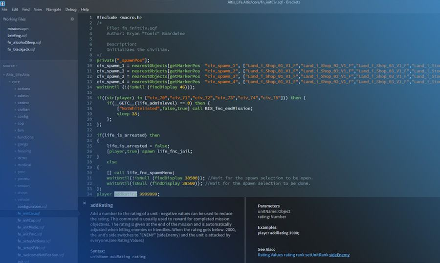 Brackets - Free & Open Source Adobe Code Editor