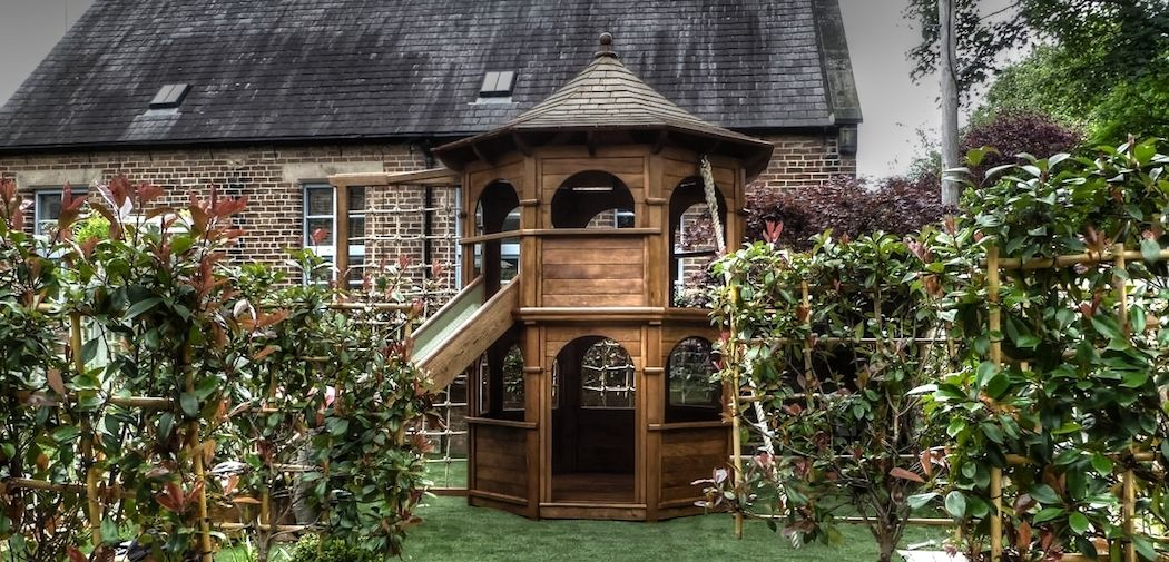 Shincliffe Multi Play Tower Outdoor play areas, Wooden