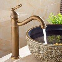Photo of Basin Faucets Bath Antique Finish Brass Water Tap Bathroom Basin Sink Faucet Vanity Faucet Wash Basin Mixer Taps Crane 6633