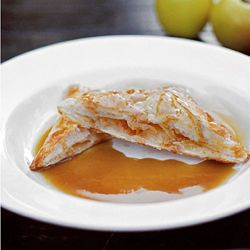 Butterscotch sauce and apple hand pies. Much easier than it sounds and you may already have the ingredients in your kitchen.