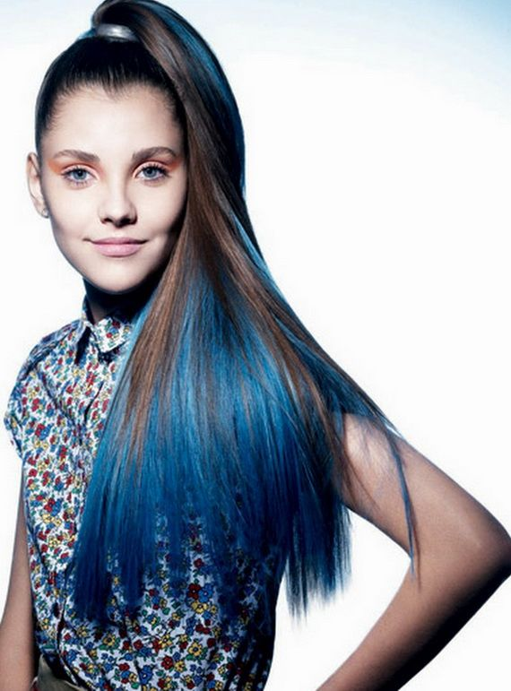 High Ponytail Hairstyles Hair Styles Hair Color Blue
