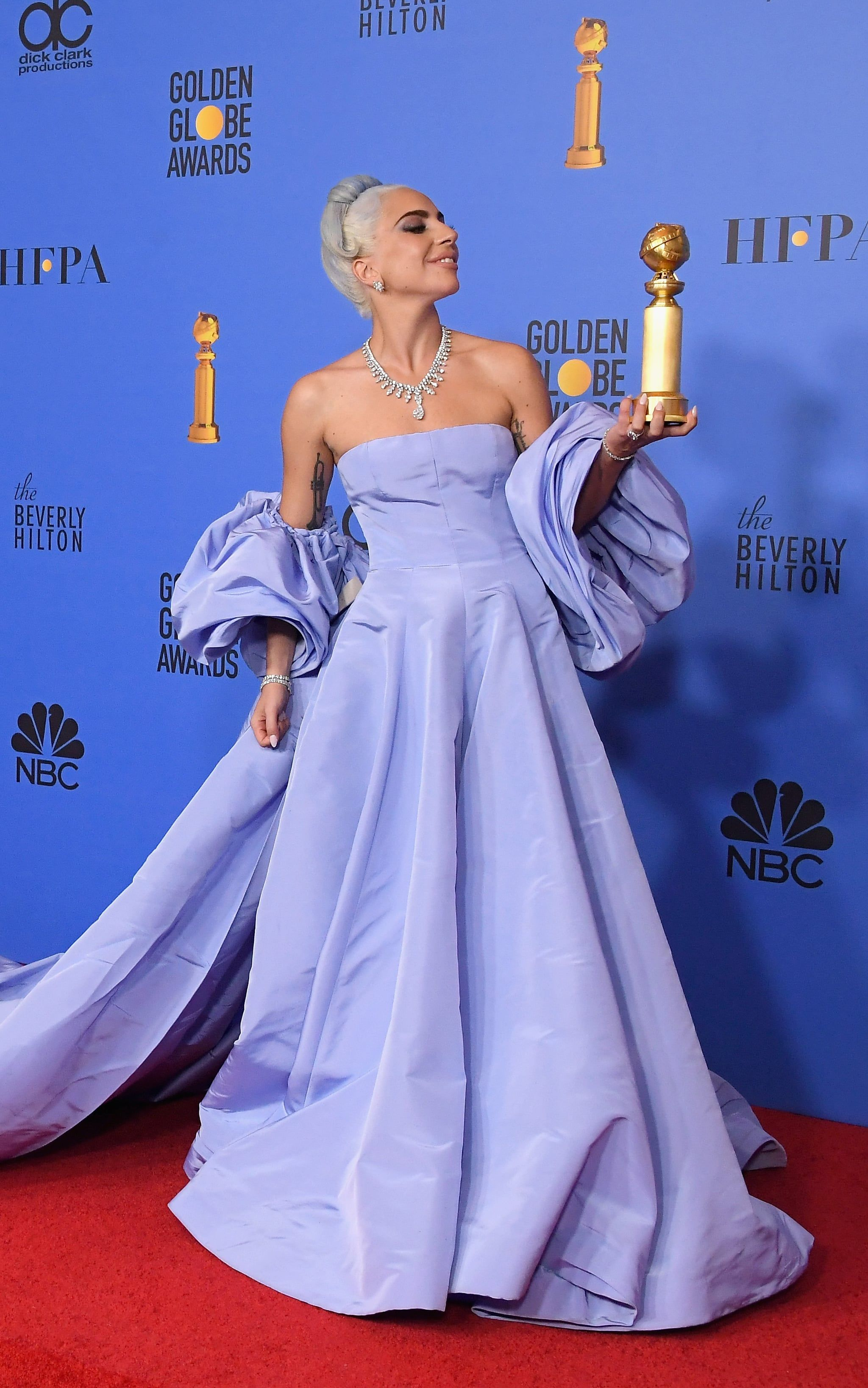 e6c203dbeb5d Lady Gaga Brought the Drama to the Globes in This Breathtaking  Cinderella-Inspired Gown