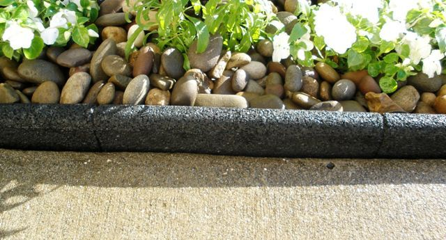 Black Ecoborder Recycled Landscape Edging Being Used In