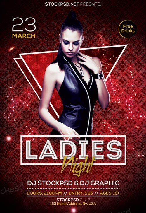 Free Ladies Night Out Flyer Template Http Freepsdflyer Com Free Ladies Night Out Flyer Template En Free Psd Flyer Free Flyer Templates Psd Flyer Templates