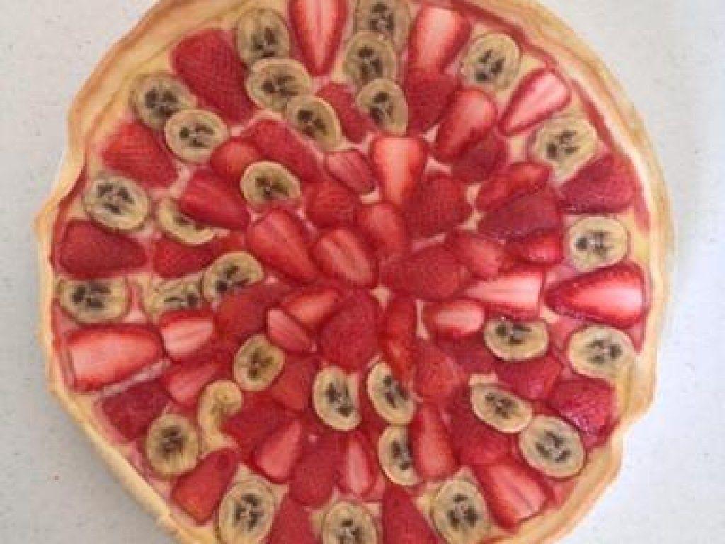 Tarte aux fraises et à la banane