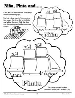 nina pinta and santa maria patterns and activity ideas