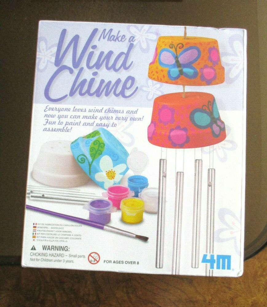 Details about toysmith make a wind chime kit from 4m 4824