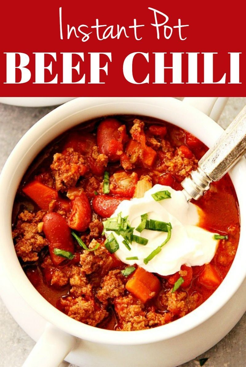 Best Instant Pot Chili Best Instant Pot Chili Recipe -rich and flavorful beef and bean chili that's made in pressure cooker! Tastes as if it wassimmering on your stove all day.