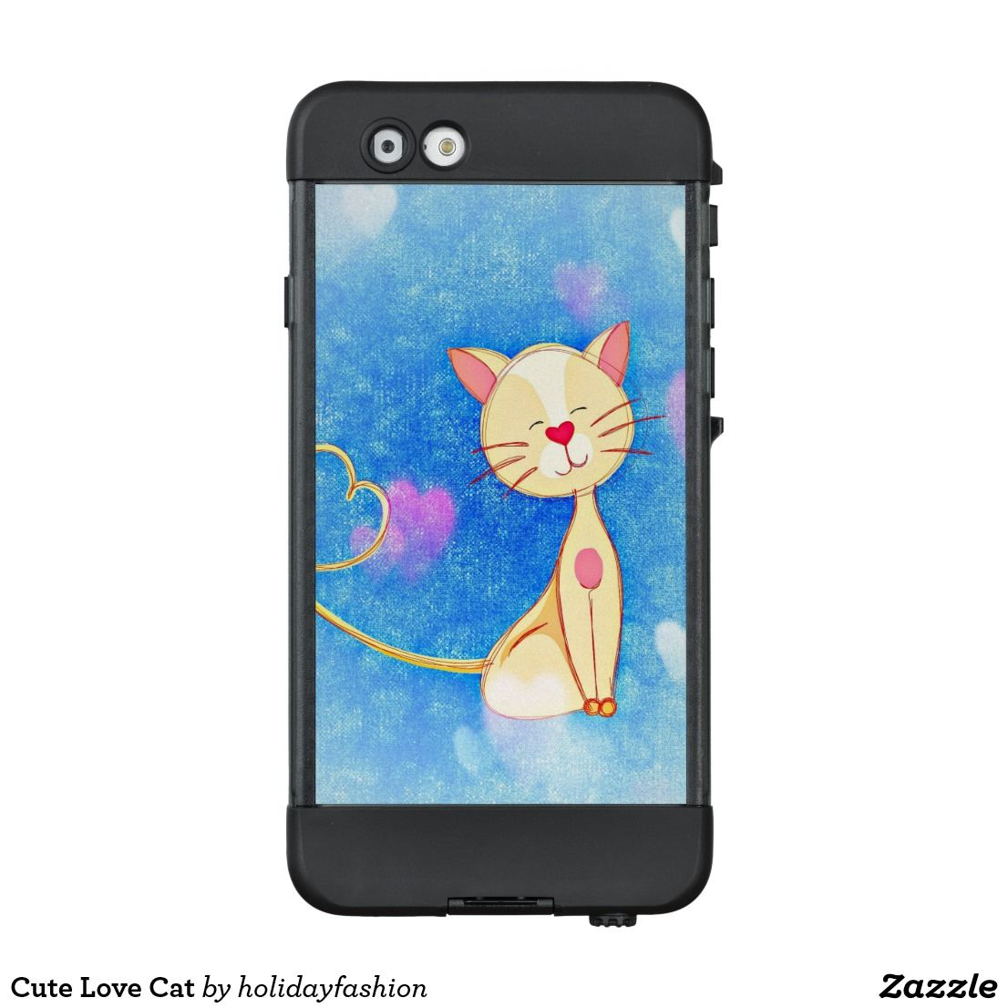 Cute love cat lifeproof iphone case