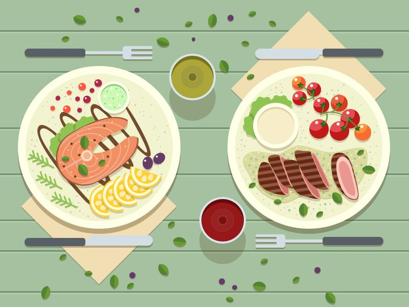 A Dinner Food Illustrations Illustration Food Dinner