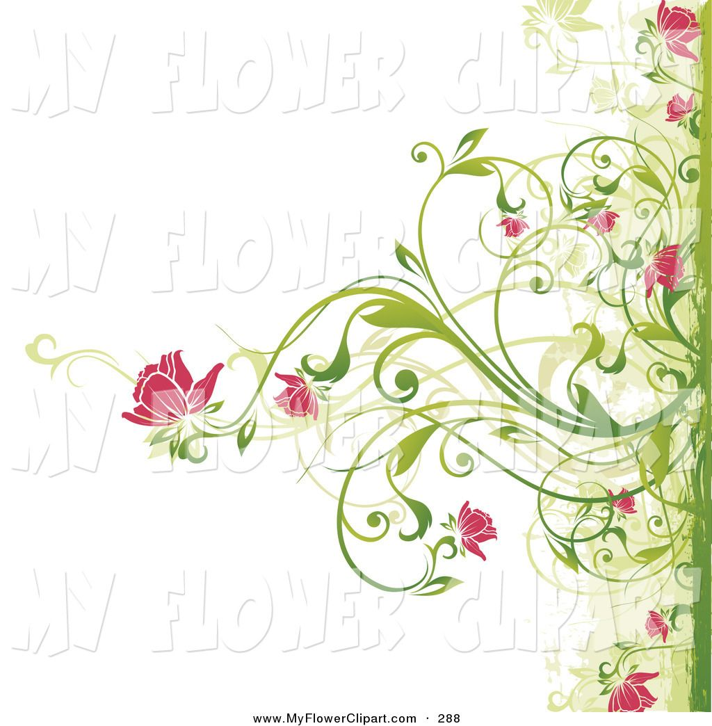Pink+Flower+Border+Clip+Art