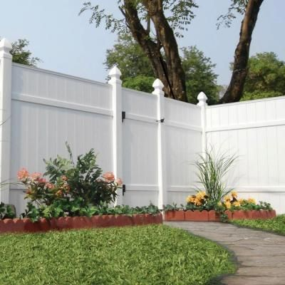 vinyl fence panels home depot. Windham White Vinyl Fence Panel - 73002103 At The Home\u2026 Panels Home Depot C