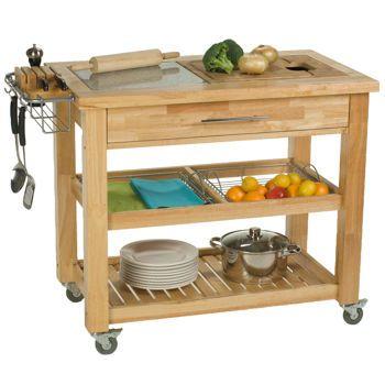 Chris Chris 24 X 40 X 35 Pro Chef Kitchen Work Station Costco 420 Kitchen Island With Granite Top Kitchen Dining Furniture Wood Kitchen