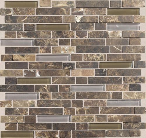 Mohawk Stone Radiance Stone And Glass Mosaic Wall Tile 5 8 Random At Menards