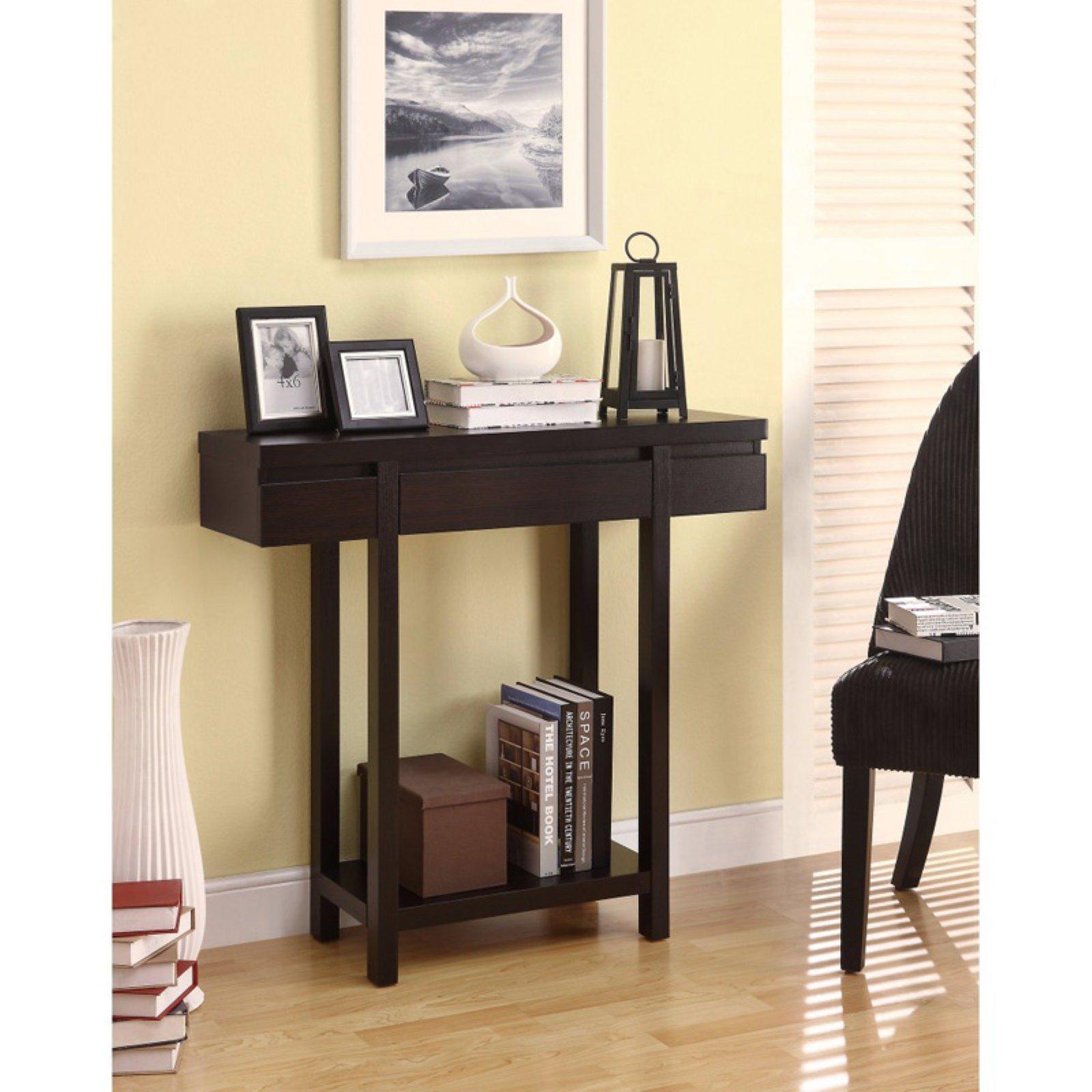Benzara Contemporary Console Table With Lower Shelf Contemporary