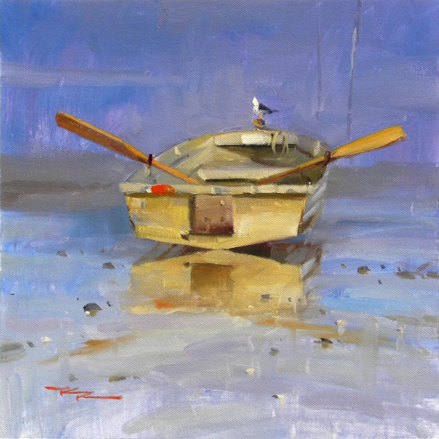 TheDinghy. Oil Painting by Richard Robinson | Richard ...