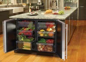2-door built-in undercounter fridge | refrigerators | pinterest