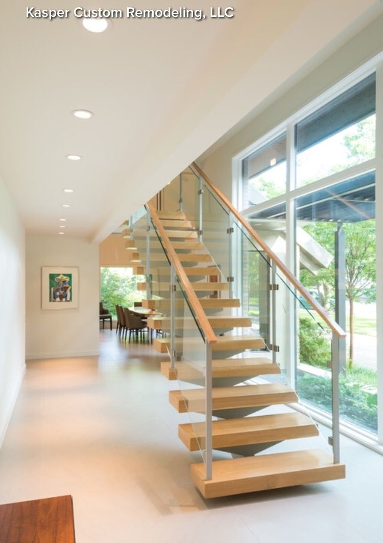 Best Delicious Floating Staircase On Center Beam Modern Stair 640 x 480