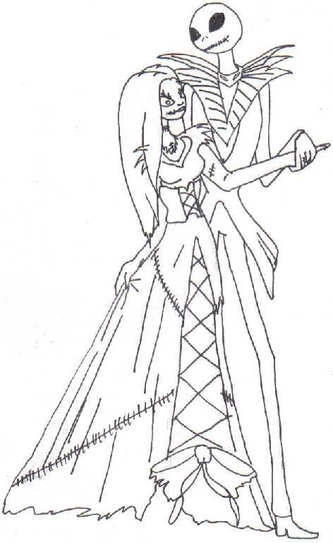 The Nightmare Before Christmas Sally Coloring Page