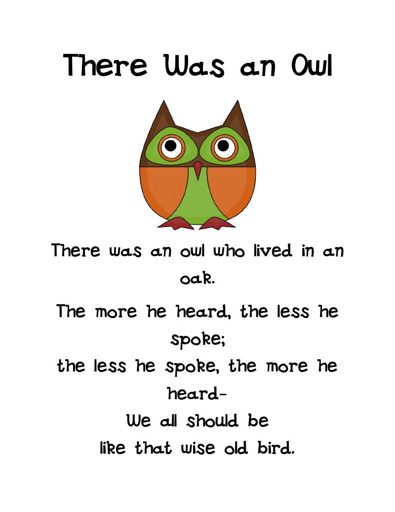 owl poems