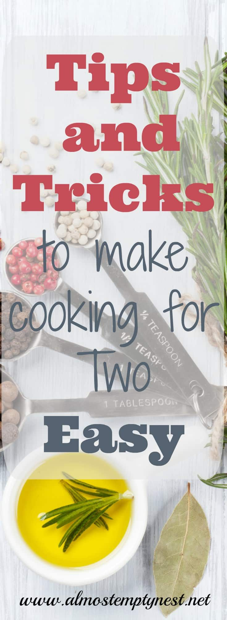 Tips and Tricks to Make Cooking for Two Easy images