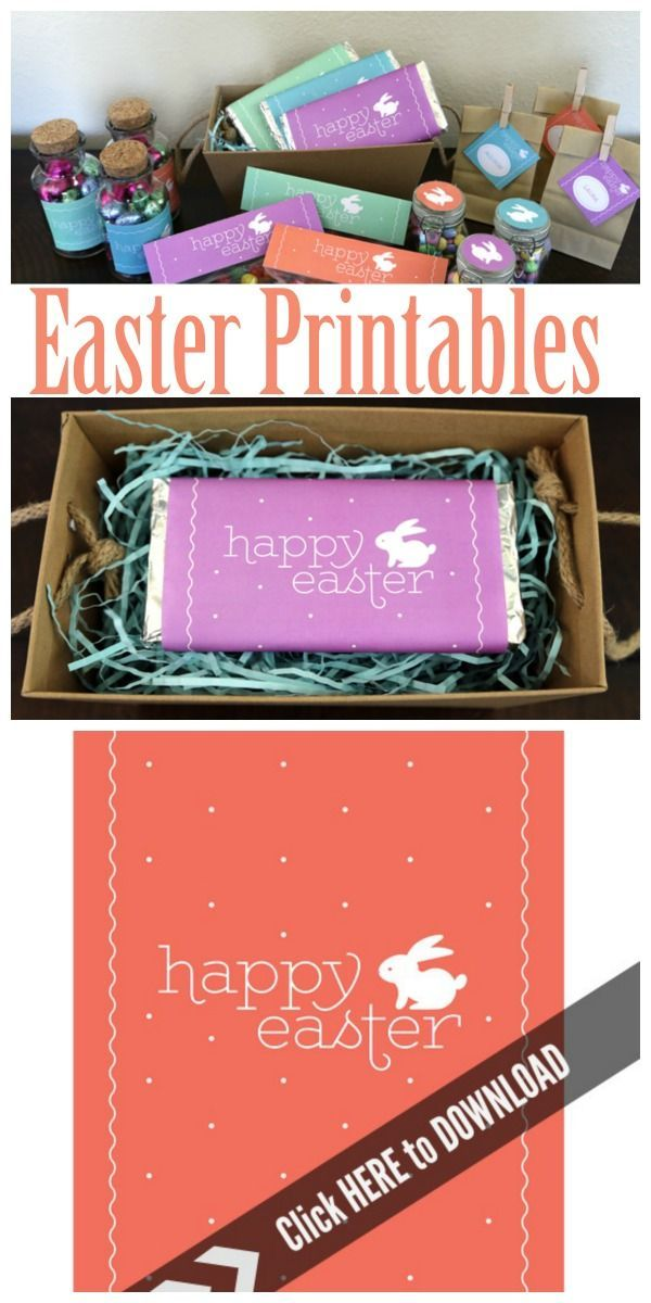 Free Printable Easter Candy Bar Wrappers | Grab your free Easter printables designed by Elegance & Enchantment for Today's Creative Life.