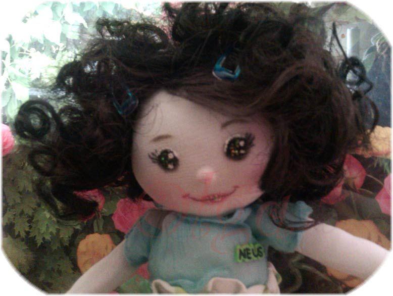 Muñeca de trapo personalizada. eltocadordecenicienta
