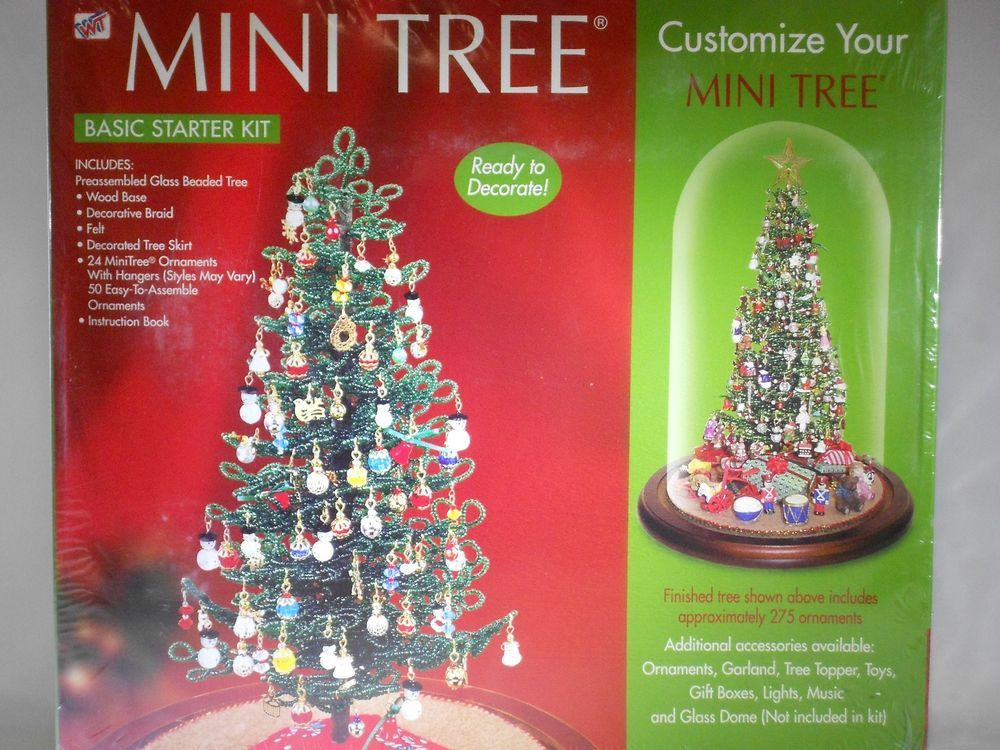 Westrim Crafts MINI CHRISTMAS TREE Basic Starter Kit Glass Beaded SEALED